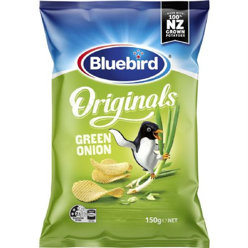 Bluebird Green Onion Chips (150g) ( New Zealand )